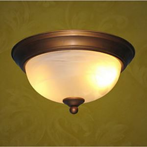 Antique Inspired Flush Mount with 2 Lights