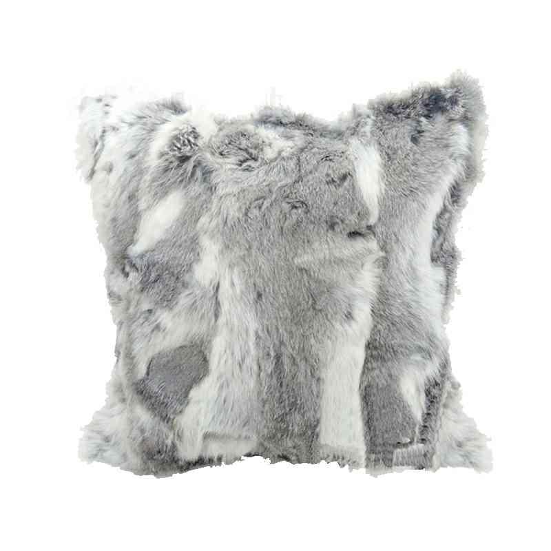 Modern Pillow Cover Sofa Pillowcase Faux Rabbit Fur Pillow Cover Fur Classy Rabbit Fur Pillow Cover