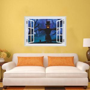 3D Horrible Specter Wall Sticker Halloween Theme Wall Sticker Waterproof Removeable Sticker