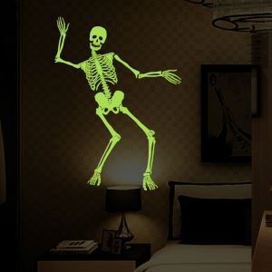 Skeleton Wall Sticker Halloween Theme Wall Sticker Waterproof Removeable Sticker