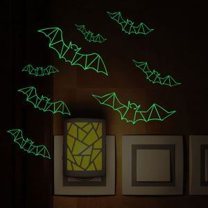 Luminous Bat Wall Sticker Halloween Theme Wall Sticker Waterproof Removeable Sticker