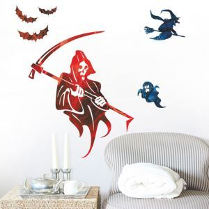 Sorceress with Sickle Wall Sticker Halloween Theme Wall Sticker Waterproof Removeable Sticker