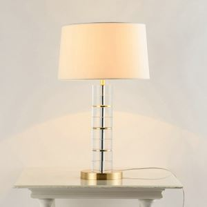 Modern Simple Table Lamp Iron Crystal Round Desk Light