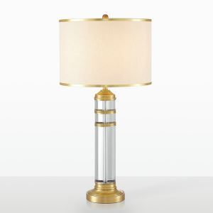Contemporary Table Lamp Round Fixture Round Shade Desk Light