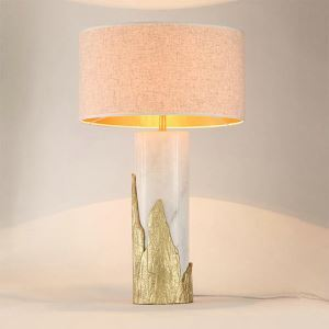 Modern Simple Table Lamp Round Shade Special Fixture Desk Light