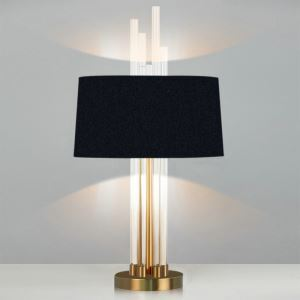 Contemporary Simple Table Lamp Bedroom Study Room Table Lamp Iron Glass Fixture Fabric Shade Desk Lamp