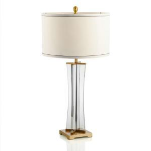 Contemporary Simple Table Lamp Square Base Drum Shade Desk Light