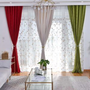 Modern Simple Curtain Unique Geometry Embossing Curtain Living Room Bedroom Fabric