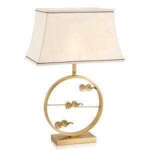 Contemporary Simple Table Lamp Propitious Cloud Fixture Copper Table Lamp Elegant Desk Light