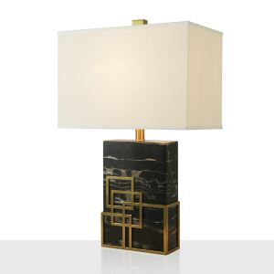 Contemporary Simple Table Lamp Square Iron Marble Table Lamp Special Desk Light