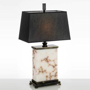 Mordern Simple Talbe Lamp Iron Marble Table Lamp Unique Square Base Desk Light
