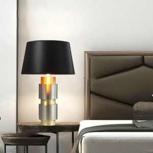 Contemporary Simple Table Lamp Mysterious Aluminium Alloy Table Lamp Bedside Desk Light