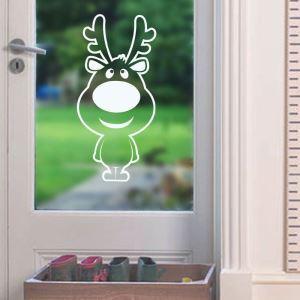Modern Simple Christmas Wall Sticker Cute Elk Window Sitcker