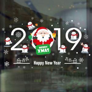 Modern Simple Christmas Wall Sticker Santa Claus 2019 Window Sitcker