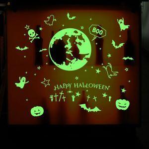 Luminous Happy Halloween Wall Sticker Halloween Theme Wall Sticker Waterproof Removeable Sticker