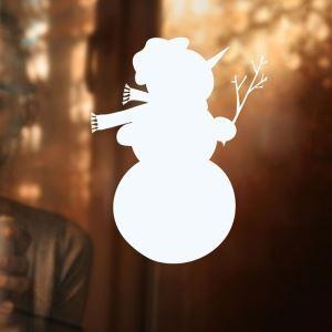 Contemporary Plain Wall Sticker Cute Snowman Window Sticker