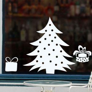 Contemporary Plain Wall Sticker White Christmas Tree Window Sticker