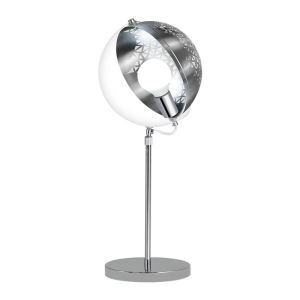 Modern Table Lamp Hollow Out Metal and Glass Creative Lamp 360° Shade Rotating
