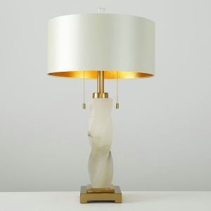 Contemporary Simple Table Lamp Iron Dolomite Helix Table Lamp Modern White Desk Light