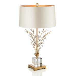 Contemporary Simple Table Lamp Iron Crystal Table Lamp Branch Fixture Desk Light