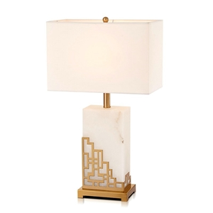 Contemporary Simple Table Lamp Iron Dolomite Table Lamp Unique Fixture Desk Light