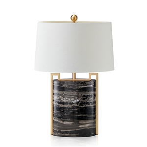 Contemporary Simple Table Lamp Copper Marble Table Lamp Bedside Study Room Desk Light