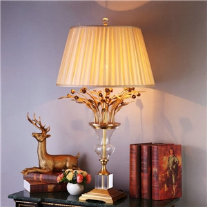 Contemporary Simple Table Lamp Special Copper Crystal Fixture Table Lamp Bedroon Living Room Desk Light