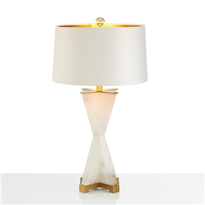 Contemporary Simple Table Lamp Skirt Shape Fixture Iron Dolomite Table Lamp Bedside Living Room Desk Light