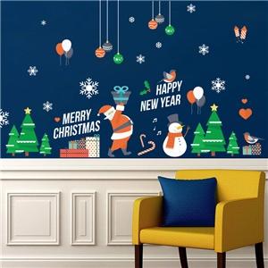 Contemporary Plain Wall Sticker Christmas Theme Wall Sticker Colorful Window Sticker