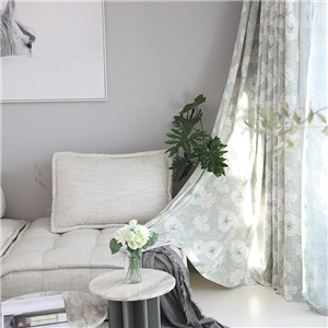 Rural Simple Curtain Fresh Flower Printing Curtain Living Room Bedroom Fabric
