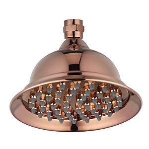 Antique Rose Gold Finish 6 Inch Brass Rainfall Shower Head