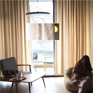 Modern Simple Curtain Chenille Wave Jacquard Curtain Thermal Bedroom Living Room Fabric