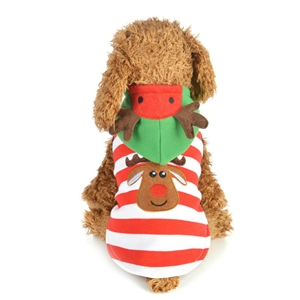 Pet Clothes Christmas Kitten Puppy Dress with Cute Elk Pattern