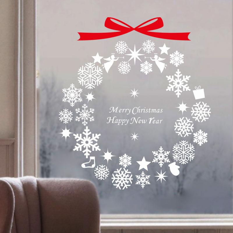 Contemporary plain wall sticker removable christmas snowflake wall sticker waterproof pvc - Adesivi natalizi per finestre ...