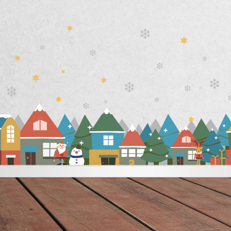 Contemporary Plain Wall Sticker Removable Christmas Wall
