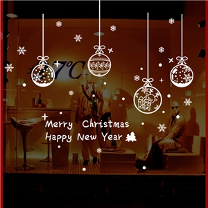 Contemporary Plain Wall Sticker Removable Christmas Wall Sticker Waterproof PVC Jingling Bell Window Sticker