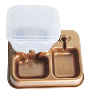 Pet Automatic Feeder Cat Dog Food Water Dispenser Golden