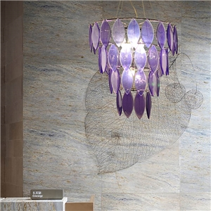 Modern Pendant Light Colorful Natural Leaf Vein Chandelier Homelava Brand