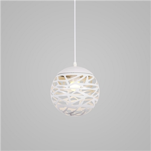Contemporary Simple Pendant Ligth Hollow Ball Shape Stoving Varnish Pendant Light Bedroom Living Room Light