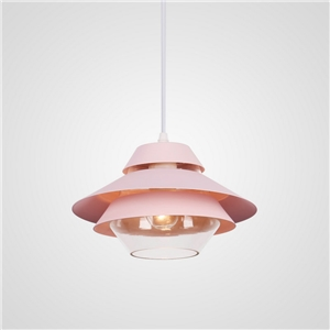Multi Color Pendant Light Stoving Varnish Three Layers Shade Glass Pendant Light Dining Room Bedroom Living Light