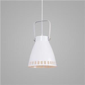 Contemporary Simple Pendant Light Bucket Shape Stoving Varnish Pendant Light Bedroom Living Room Light