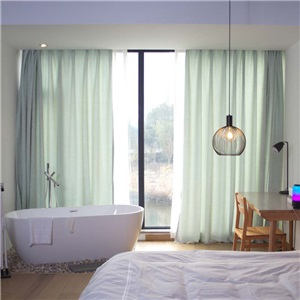 Japanese Simple Curtain Solid Chenille Curtain Thick Thermal Bedroom Living Room Fabric