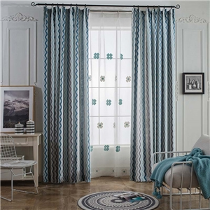 Nordic Simple Curtain Special Wave Jacquard Curtain Living Room Bedroom Fabric