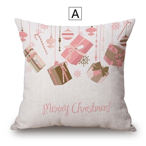 Modern Cute Pillow Cover Christmas Gift Priting Cotton Linen Pillow Case Merry Christmas