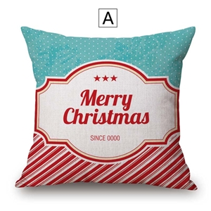 Nordic Simple Pillow Cover Christmas Theme Cotton Linen Pillow Case Merry Christmas