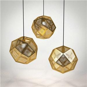 Nordic Simple Pendant Light Hollow Stainless Steel Shade Pendant Light Bedroom Living Room Light