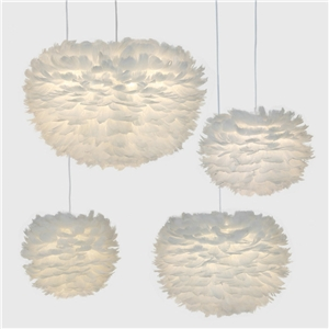 White Feather Pendant Light Nordic Post-modern Pendant Light Creative Bedroom Living Room Pendant Light