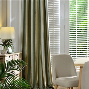 Nordic Simple Curtain Stripes jacquard Curtain Bedroom Living Room Blackout Fabric