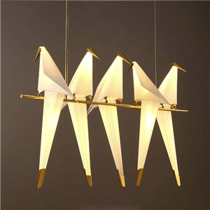 Contemporary Simple Pendant Light Five Paper Cranes Pendant Light Bedroom Living Room Pendant Light