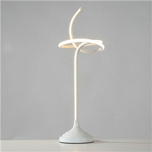 Contemporary Simple LED Table Lamp Aluminum + Iron Fixture Acrylic Shade LED Table Lamp Rope Knot Shape Desk Light